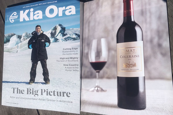 Kia Ora Magazine Wine Feature