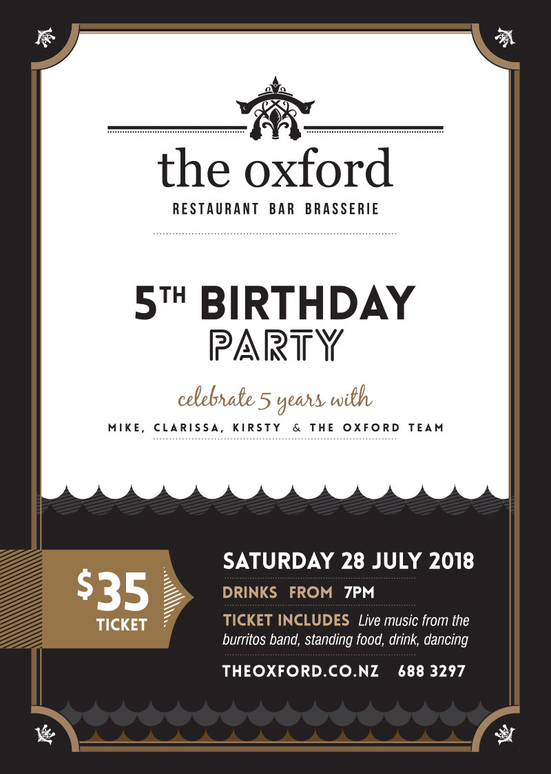 The Oxford 5th birthday celebrations