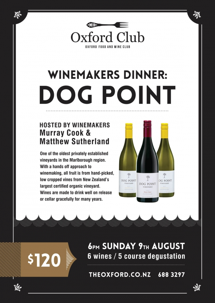 Dog Point Winemakers Dinner
