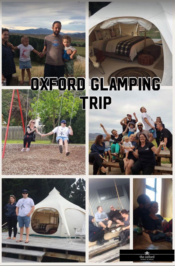 The Oxford staff glamping trip