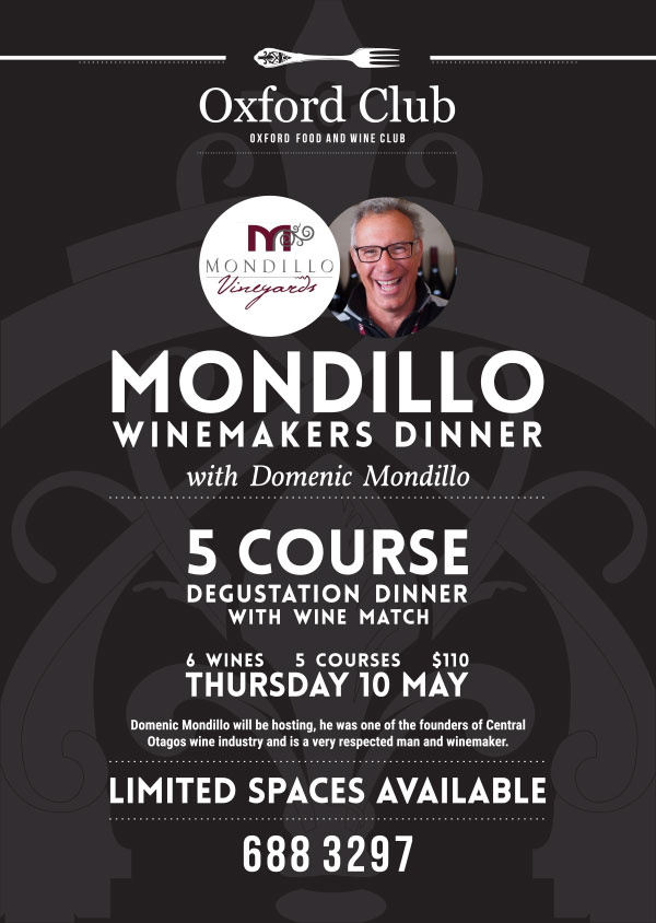 The Oxford Mondillo wine maker dinner