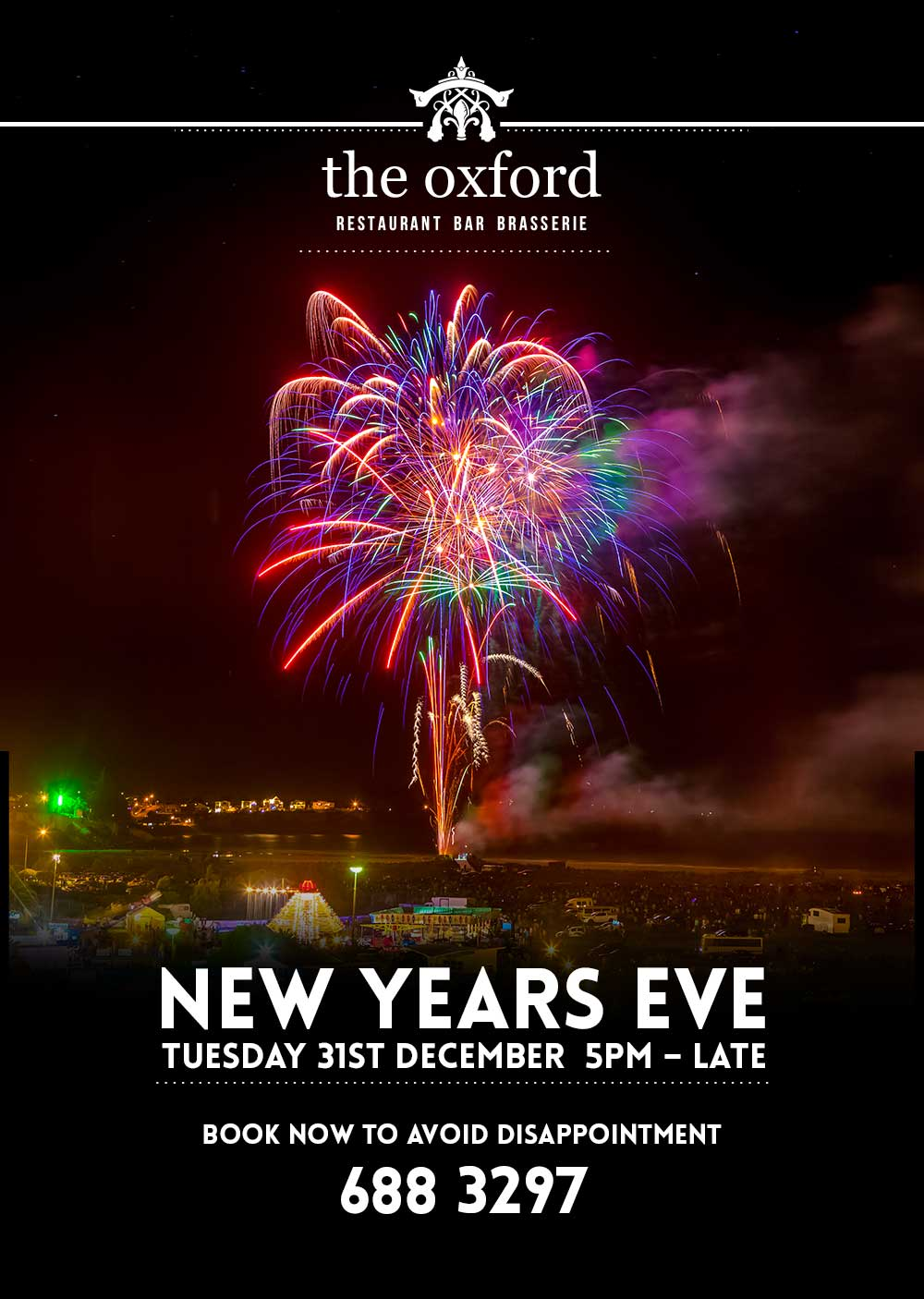 Dine New Years Eve 2019 at the Oxford