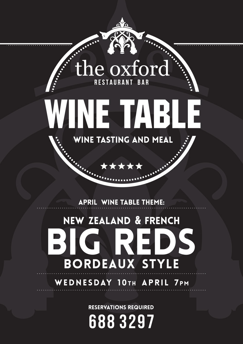 OXFORD - Wine Table Night - Big Reds