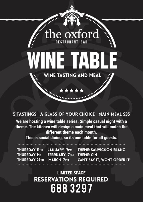 the oxford wine table